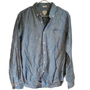 J. CREW chambray button down slim shirt Medium